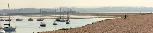 looking back to Hurst Castle, Ruth's walk around the coast, Hampshire