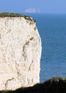 Needles in background, Old Harry in foreground, Ruth Coastal Walk