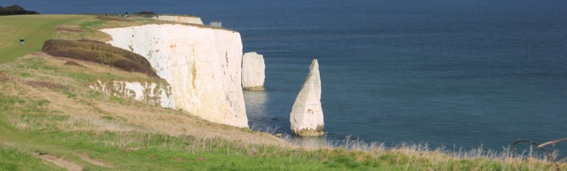 looking back, Old Harry, Ruth's coastal walk