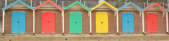 beach huts, Swanage, Ruth's coast walk