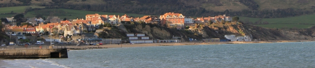 Swanage in evening light, Purbeck, Ruths coastal walk