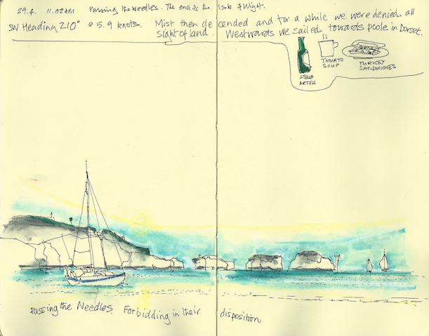 The Needles - sketch from the notebook of my Artist in Residence