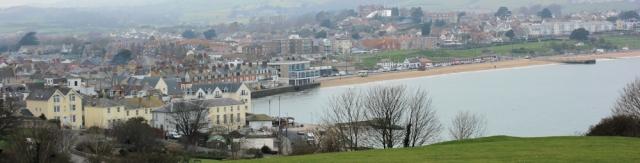 view over Swanage, Ruth's coastal walk round UK