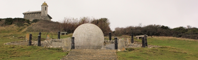 strange globe, Durlston Head, Ruth walks the coast of Dorset