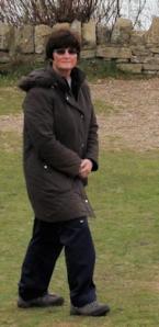 Ruth, on her coastal walk, around Durlston Head.
