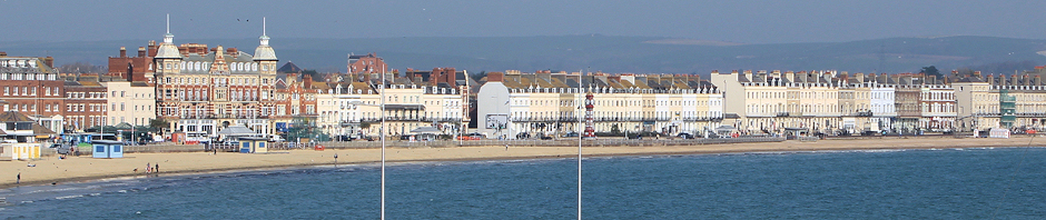 Weymouth beach front, Ruth's coastal walk.