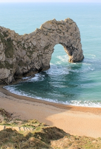 Durdle Door - Dorset. Ruth walks the South West Coast Path