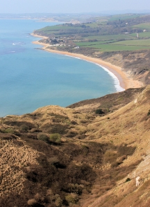 Ringstead Bay - view, Ruth's coastal walk, through Dorset.