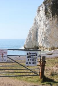 Arish Mell beach - Ruth walking the South West Coast Path