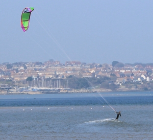 kite surfing, Portland Harbour, Ruth walks around the coastline.