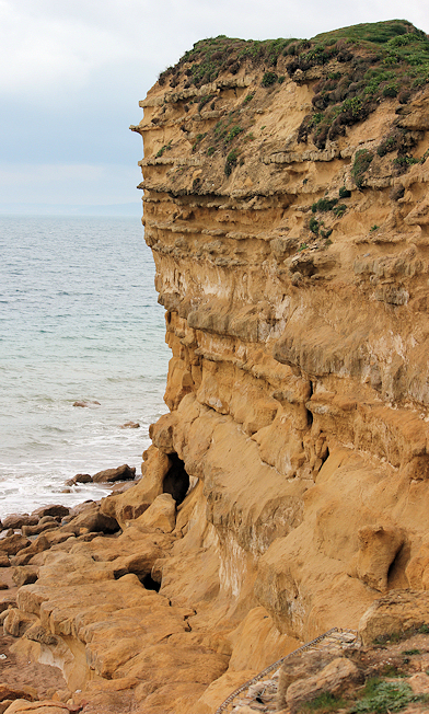 Burton Cliff, Ruth walks the South West Coast path, Dorset