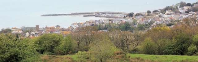 Lyme Regis - from above, Ruth's coastal walk