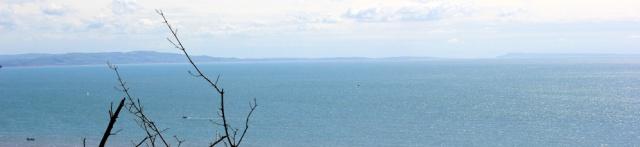 sea view with Portland - Ruth on her coast walk, Devon