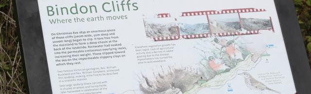 Bindon Cliffs - South West Coast Path, Ruth walking the coast