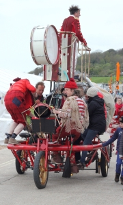 procession - Lyme Regis Fossil Festival - Ruth's coastal walk