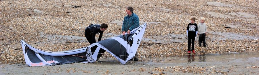kite on the beach of Lyme Regis - Ruth's coastal walk around UK
