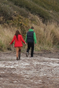muddy walkers, East Fleet, Ruth's coastal walk
