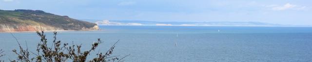 View from Beer Head, looking east - Ruth's coastal walk