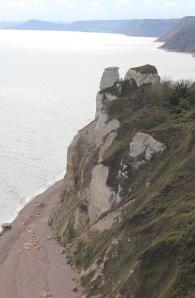 Sherborne rocks - Ruth's coastal walk. Devon.