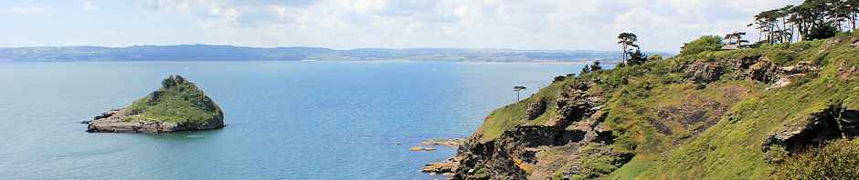 Header, across Torbay from Hope's Nose, Ruth Livingstone coastal walk