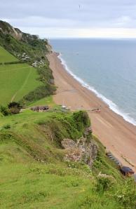 Branscombe Beach, Ruth's coastal walk through Devon.