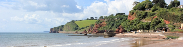 Holcombe from Dawlish, Ruth on the South West Coast Path