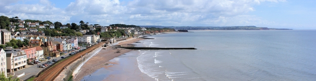 Dawlish, Ruth walking the South West Coast path, around the UK