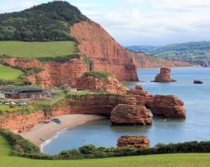 Ladram Bay, Ruth's coast walk, Devon