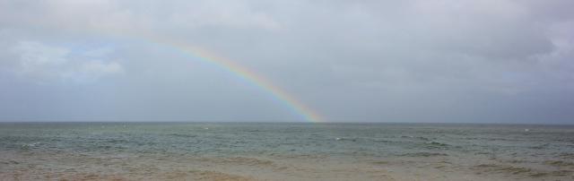 rainbow, Dawlish Warren, Ruths walk around the coast, Devon