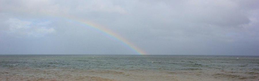 rainbow, Dawlish Warren, Ruths walk around the coast, Devon