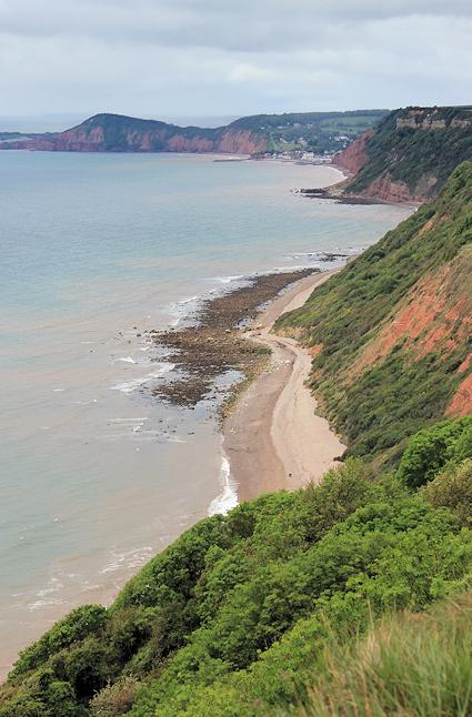 towards Sidmouth, Ruth's coastal walk through Devon