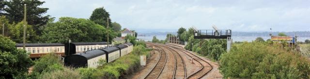 railway line, Ruth's coastal walk, Dawlish Warren