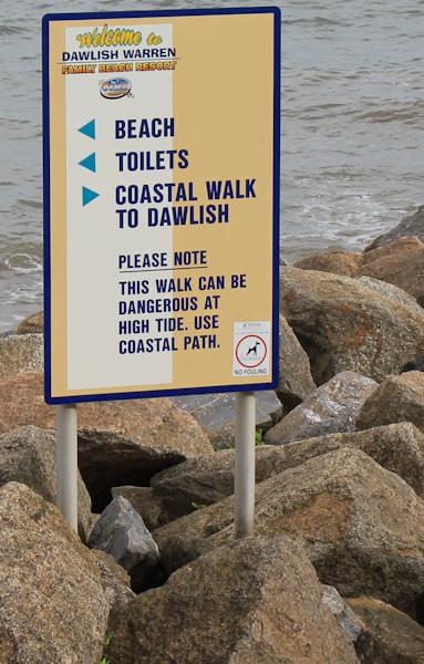 coastal walk to Dawlish sign, Ruth's coastal walk, UK