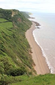 back to Weston Mouth, Ruths coastal walk, Devon