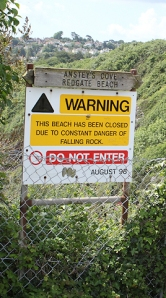 Redgate Beach closed, Torquay, Ruth's coastal walk