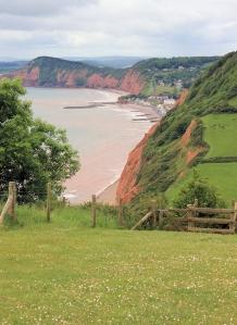 Salcombe Mouth, Ruth's coast walk