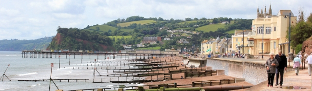 Teignmouth, Ruth walking the South West Coast Path
