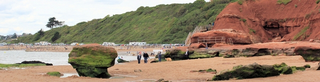 Maer Rocks, Exmouth, Ruths coastal walk