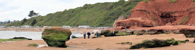Maer Rocks, Exmouth, Ruths coastal walk