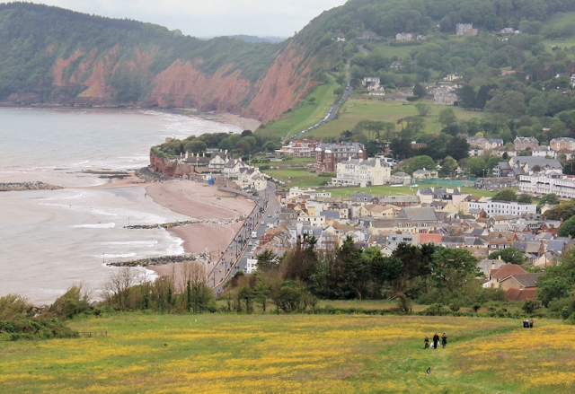 Sidmouth - Ruth on her walk around the UK coastline