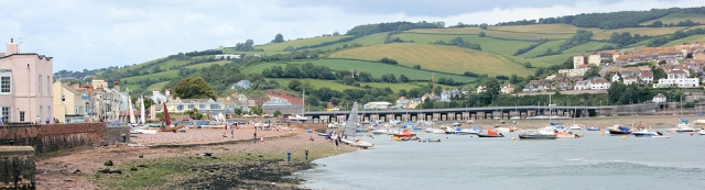 Shaldon, Ruth walking round the coast, Teignmouth