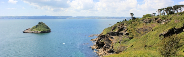 across Torbay from Hope's Nose, Ruth walks the South West Coast Path