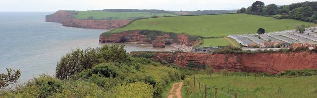 Ladram Bay - Ruth walking in East Devon, around the coast
