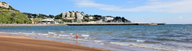 Torquay Beach, Ruths coast walk around Devon