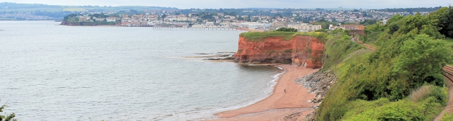Paignton, with Hollicombe Beach in foreground, Ruth's coastal walk