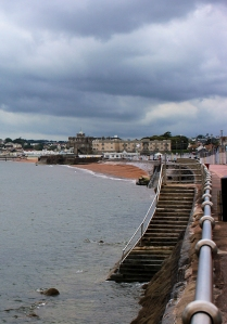Paignton in the rain, Ruth's coast walk around the UK, Devon