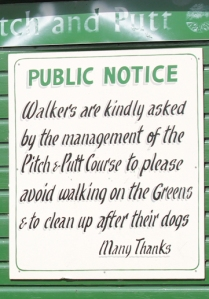 polite notice, Torbay, Ruth on her coastal walk