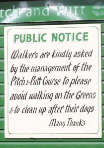 polite notice, Torbay, Ruth on her coastal walk