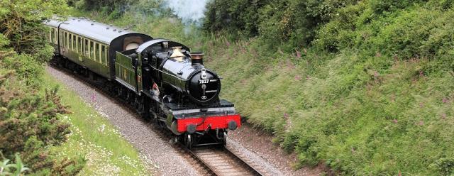 Paignton and Dartmouth steam train, Broadsands, Devon, Ruth on her coastal walk