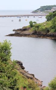 Churston Cove, Ruth walking the coast around Tor Bay
